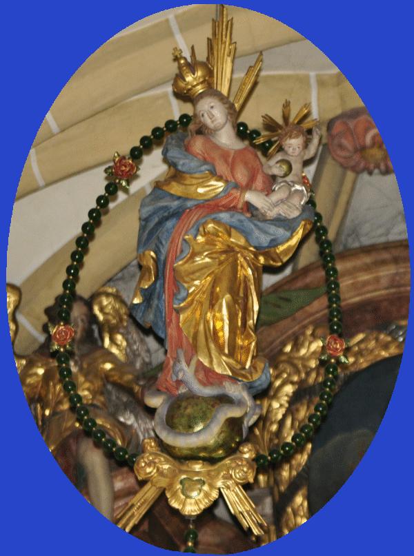 Rosenkranzmadonna in der Kirche St. Antonius